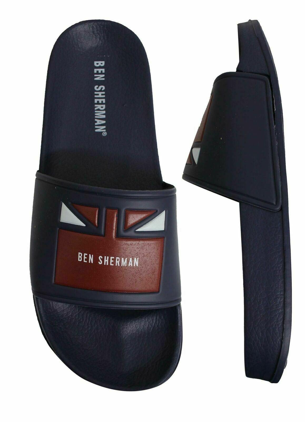 Ben Sherman Jet Slide Mens Slip On Flip Flop Sliders Sandals BEN3201