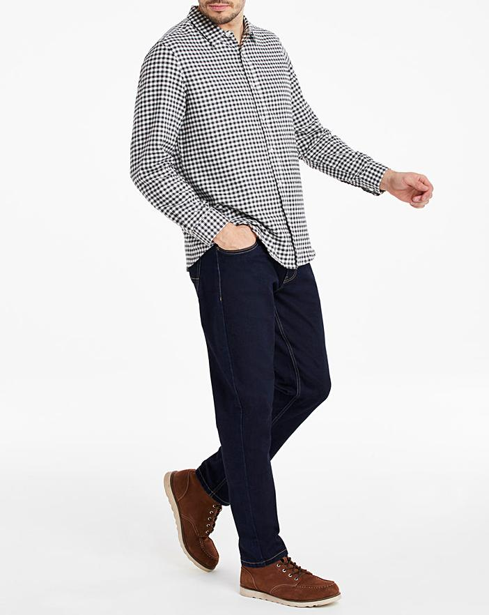 Black Check Flannel Shirt
