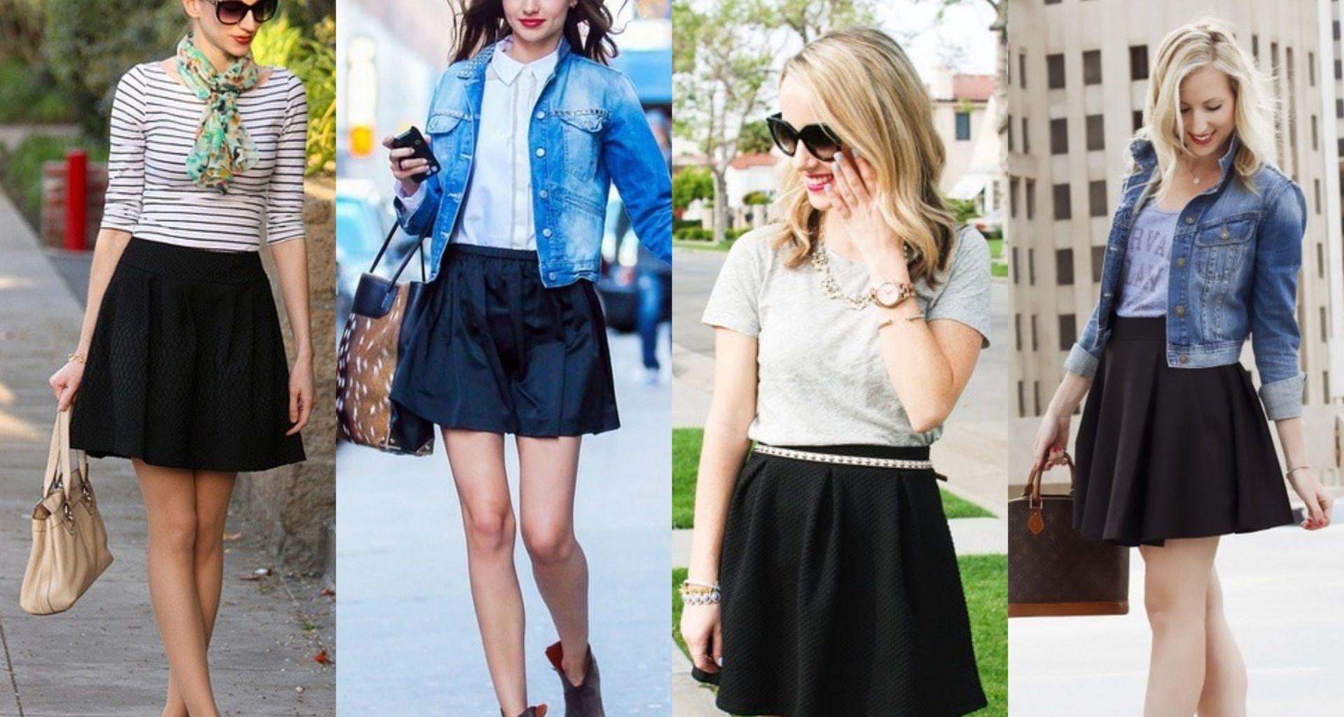 Black Skater Skirt Dresses