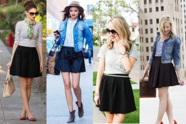 Black Skater Skirt Dresses