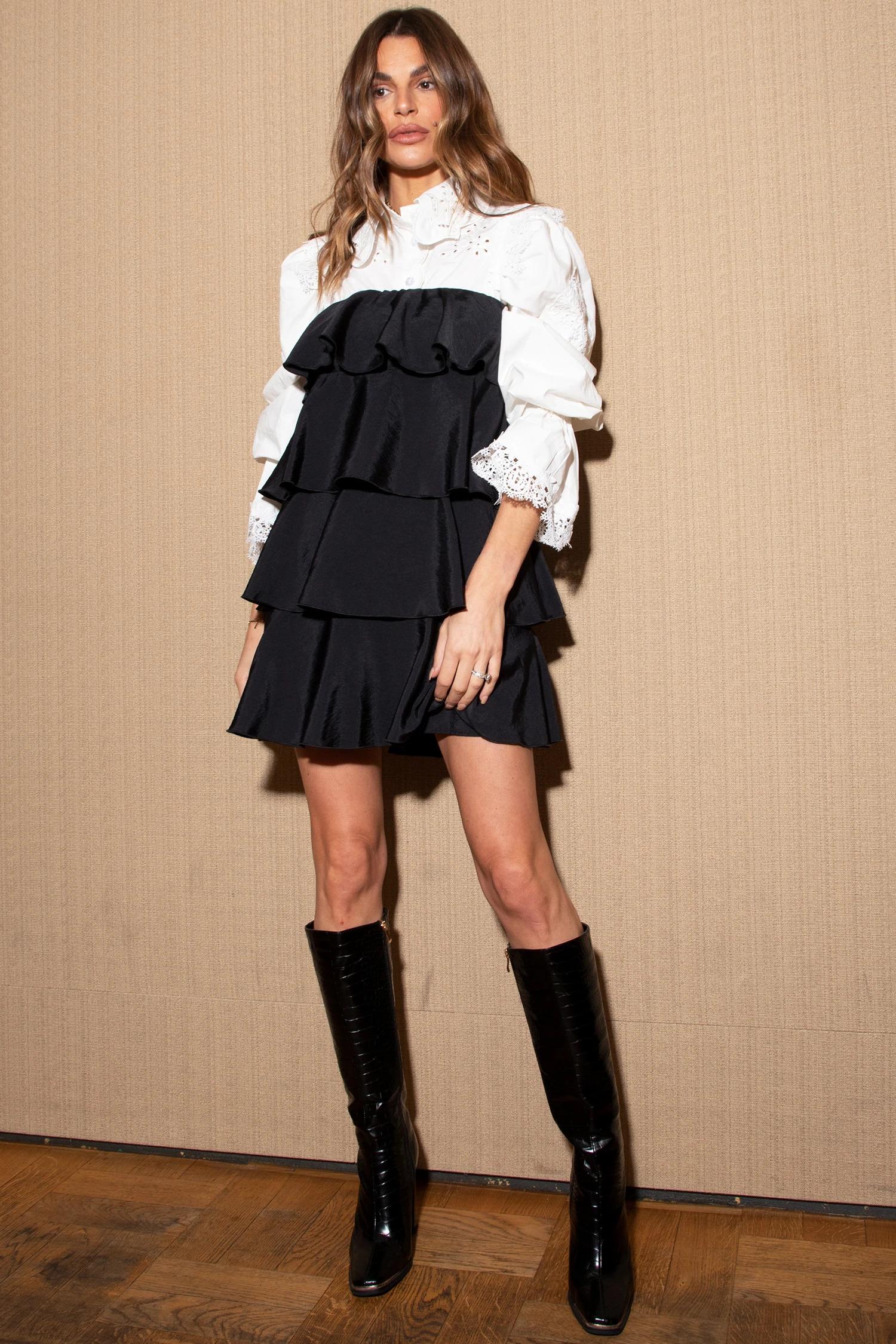 Black Tiered Mini Dress