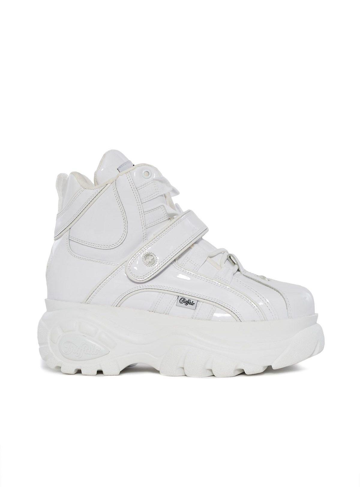 Blanco High-Top Platform Sneaker