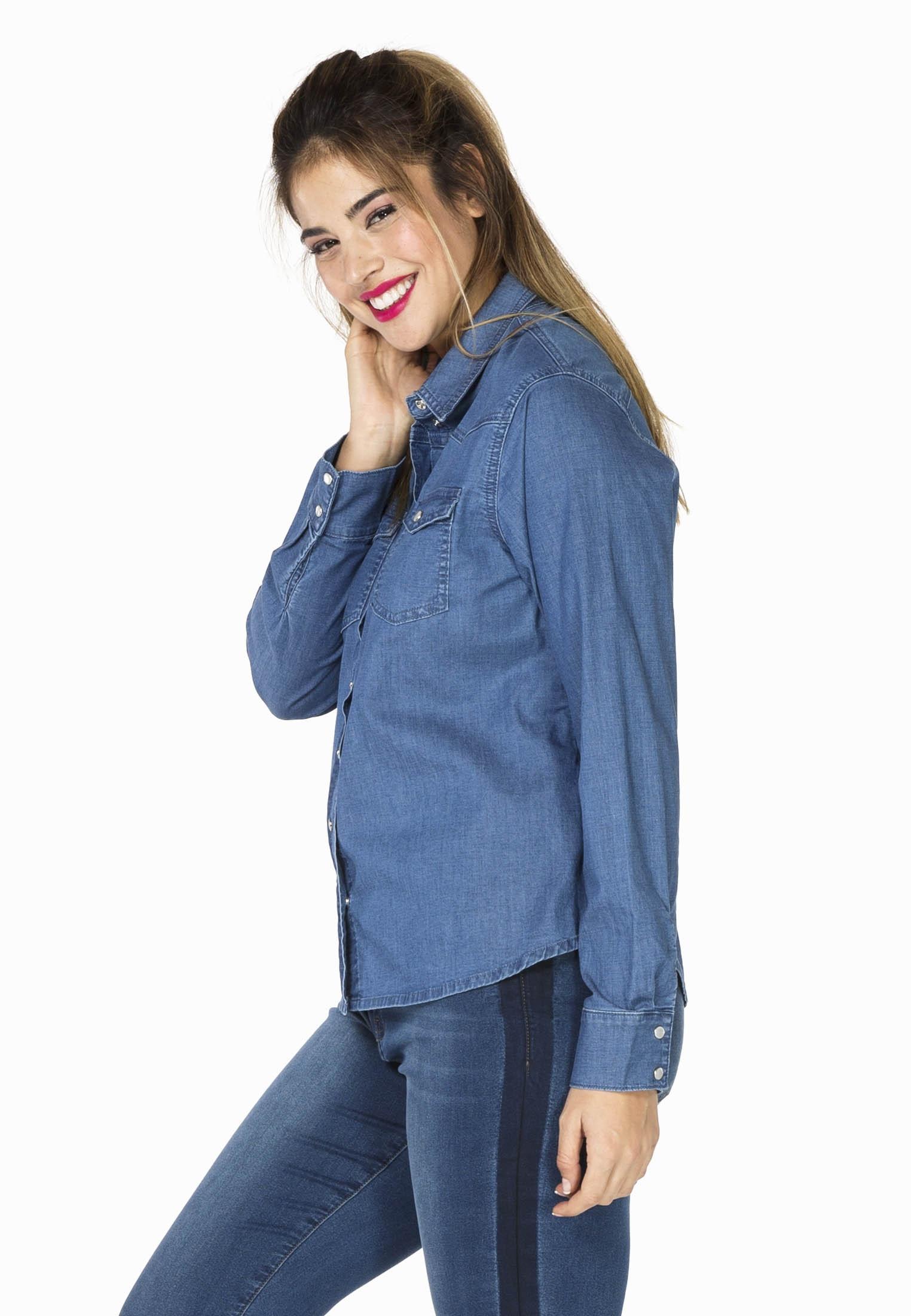 Blouse denim stretch shirt