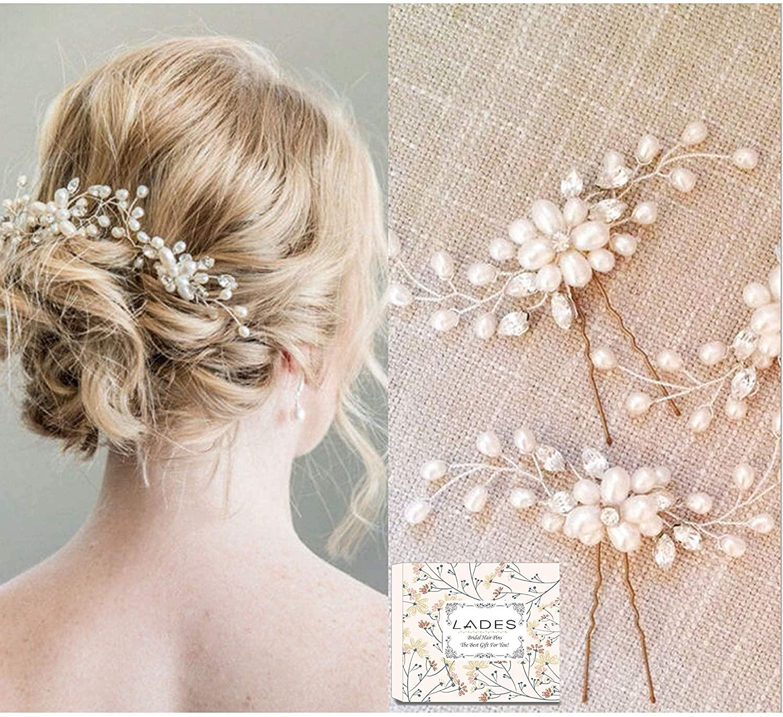 Bridal Hair Pins - 3pcs Fashion Retro Elegant Ladies Pearl Rhinestone Hair Accessories