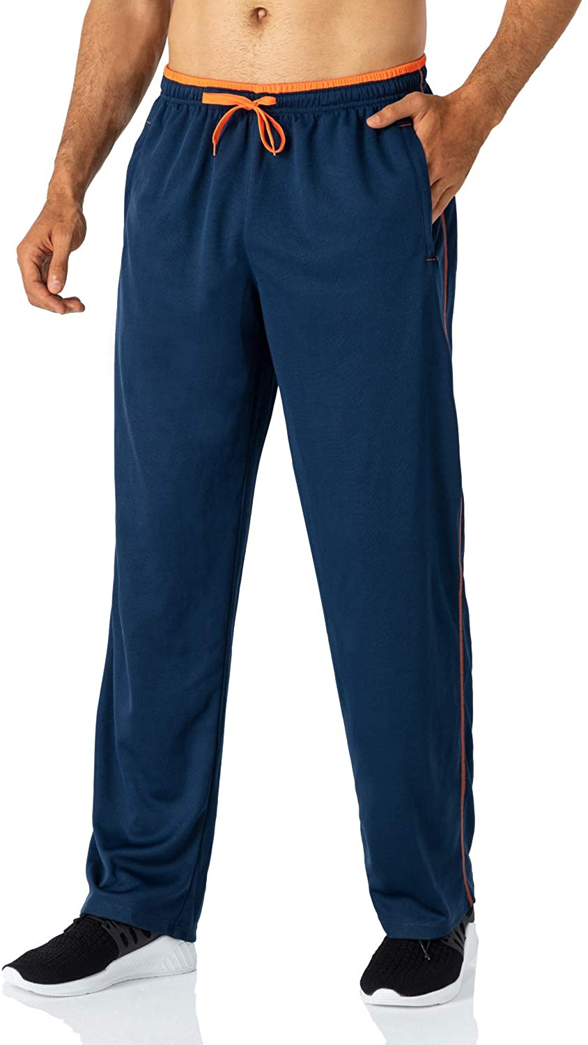 Butrends Men's Joggers Sweatpants Lightweight Running Trousers with Zip Pockets Elasticated Waist Sports Pants Open Bottoms Tracksuit