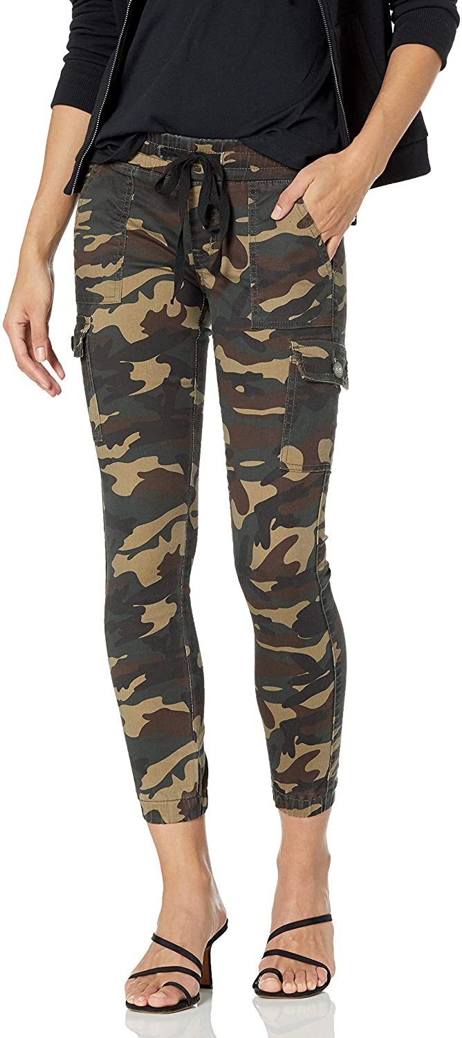 CG JEANS Size Juniors Army Camouflage Skinny Ladies Stretch Joggers, Classic Camo
