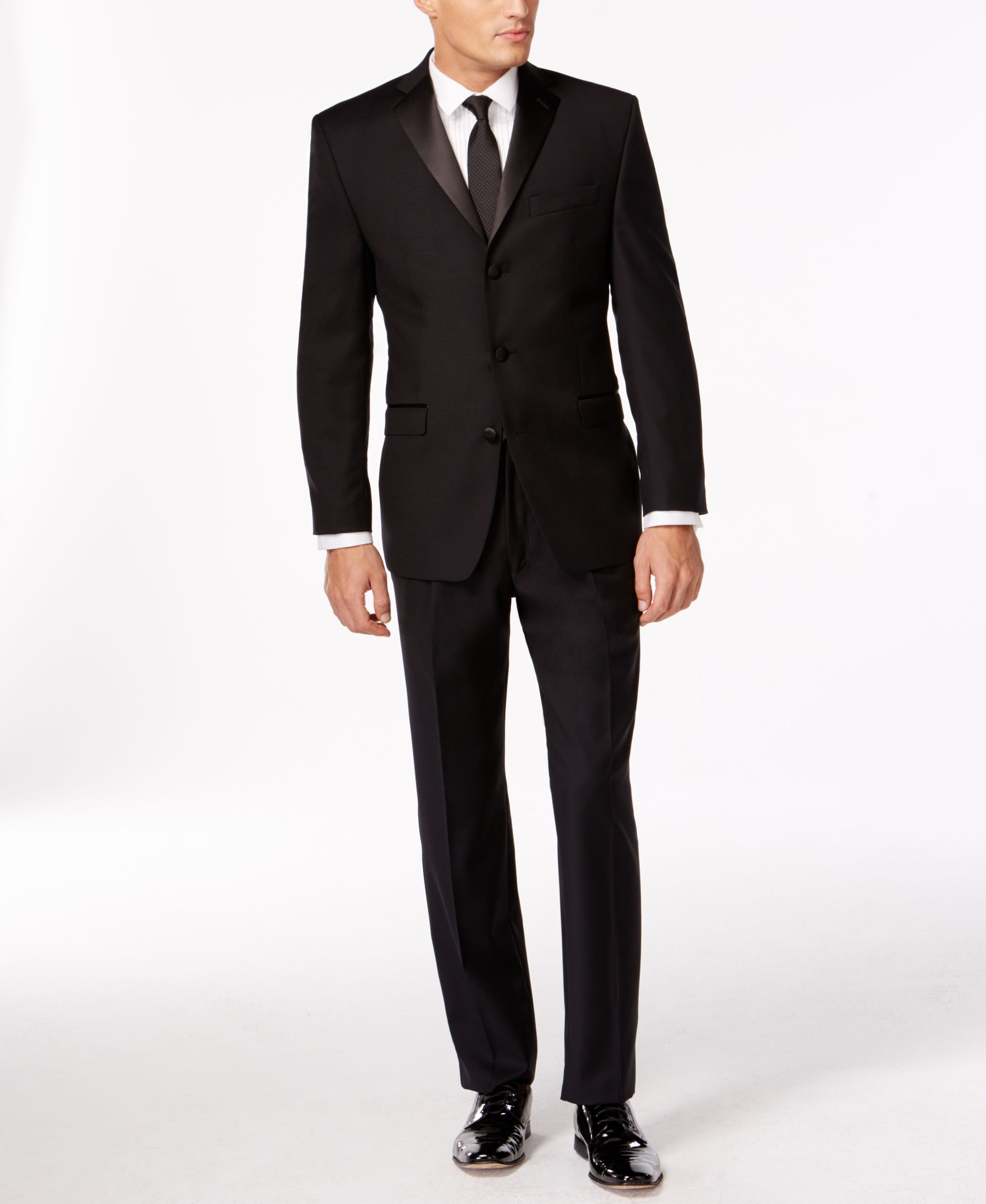 Calvin Klien Black Three-Button Slim-Fit Tuxedo