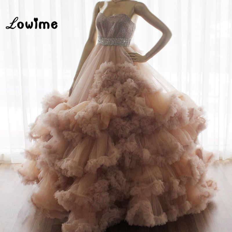 Cloud Prom Dresses Puffy Vestido De Festa Women Formal Party Dress