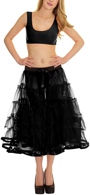 Crazy Chick Ladies Retro Underskirt 50s Vintage Petticoat Net Skirt