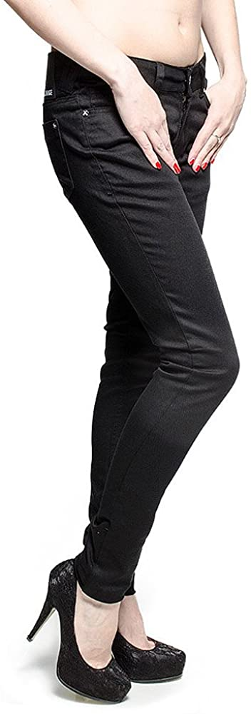 Criminal Damage Skinny Jeans (Black)