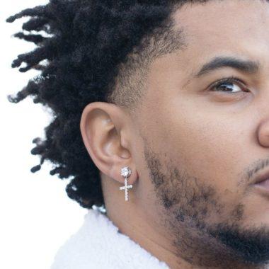 Cross earrings for men