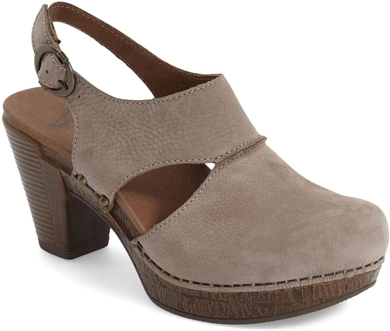 Dansko Women's 1801167800 Grey Suede Heels