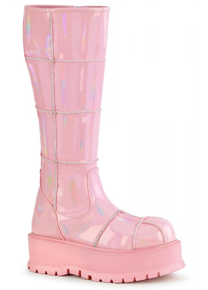 Demonia Slacker 230 Pink Knee High Boot
