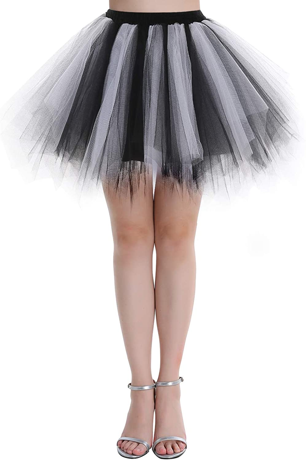Dressystar Women's 1950s Tulle Tutu Party Dance Skirt Multi-layer (15 Colors)