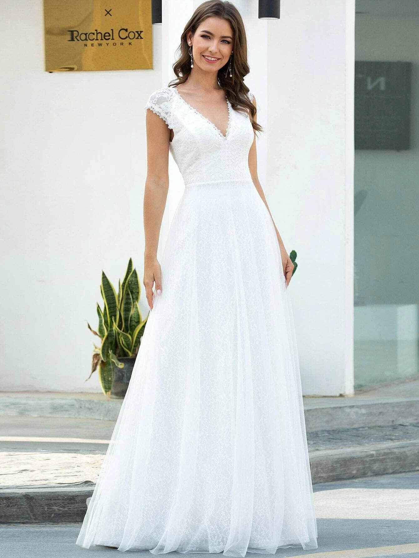 EVER-PRETTY Lace Maxi Prom Dress