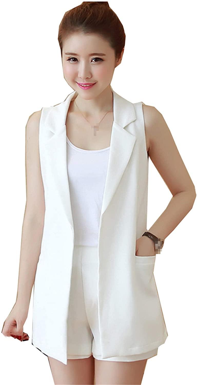 Elegant Women Vest Jacket Office Work Casual Slim Blazer