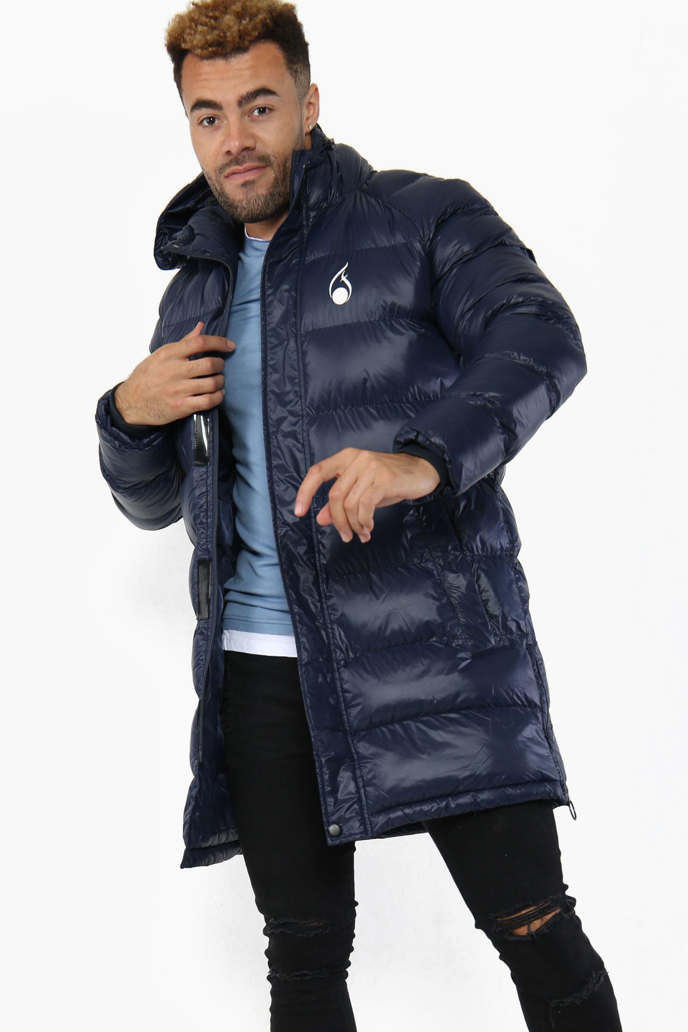 FASHIONi Long Blue Puffer Jacket