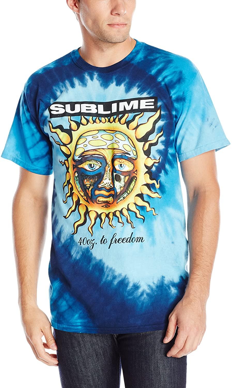 FEA Men's Sublime 40 Oz to Freedom Blue Tie Dye T-Shirt