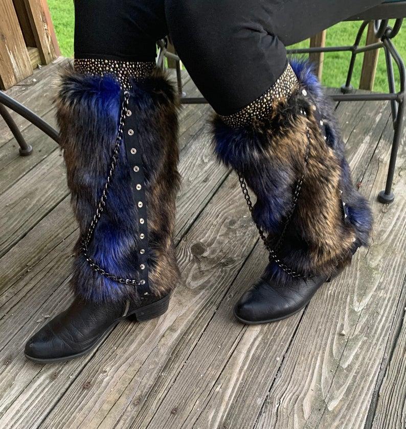Faux Fur Boot Covers / Leg Warmers / Boot Socks / Faux Fur Leg Warmers / Unique Leg Warmers