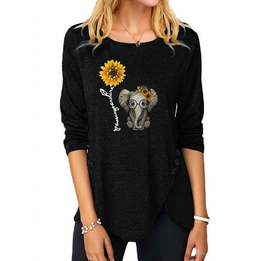 Floral Print Design T-shirt