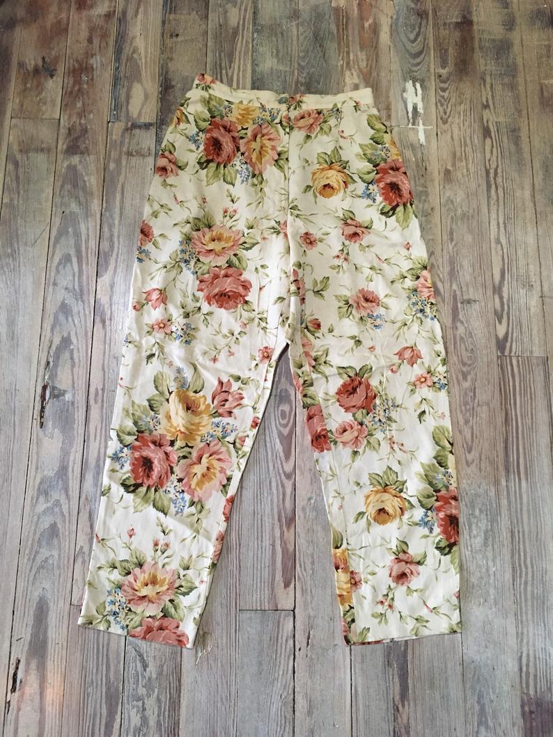 Floral vintage trousers
