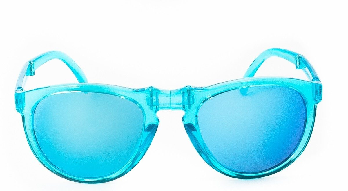 Folding sunglasses SUNPOCKET II Crystal Blue