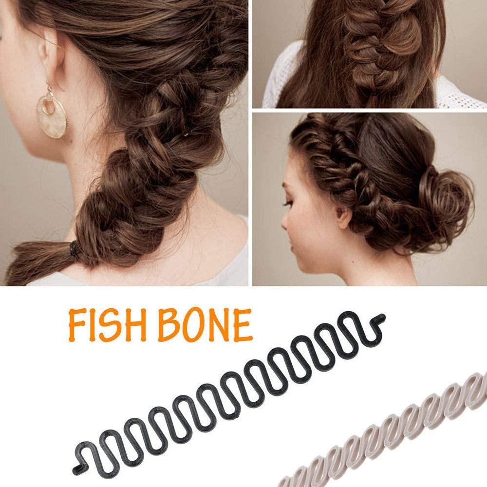 French Hair Styling Clip,3Pcs Hair Twist Tool Twist Plait Hair Braiding Tool for Girl Lady DIY Bun Maker