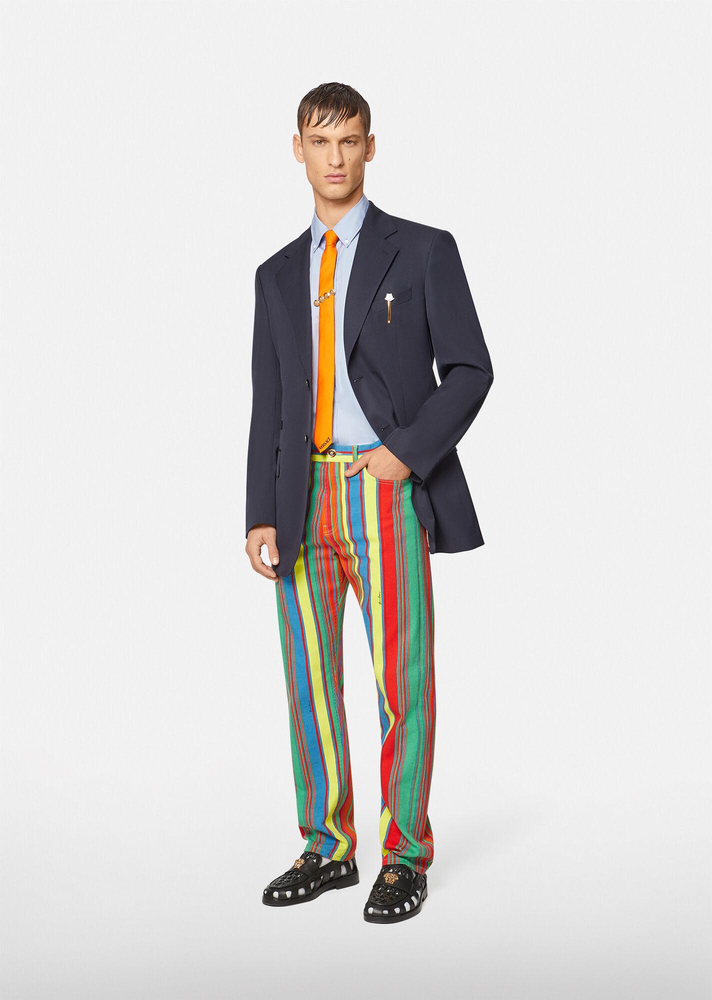 GV Pinstripe print trouser