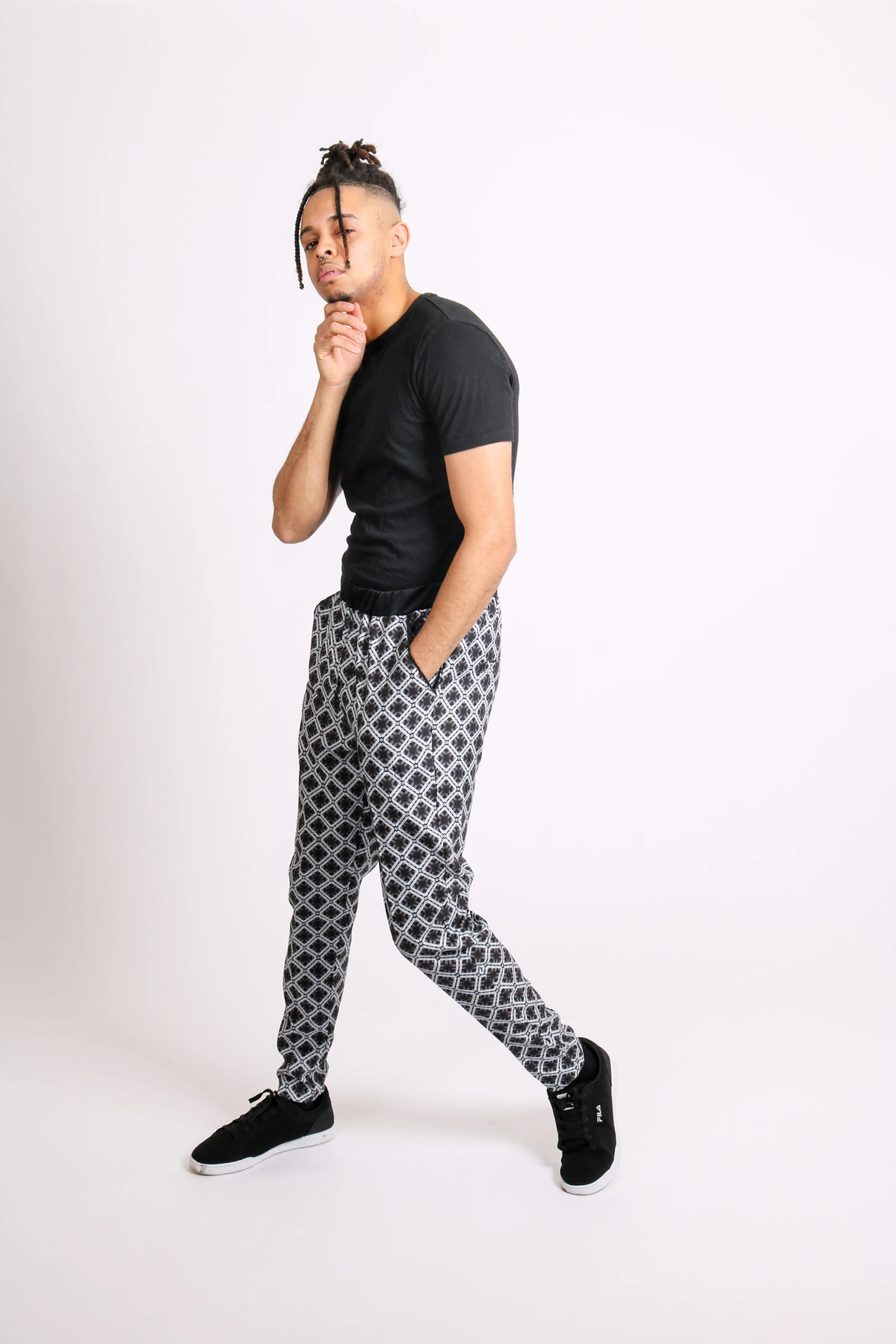 Geometric Printed Tailored Trousers