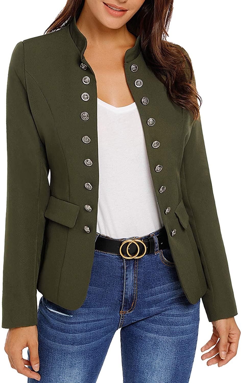 Green military blazers