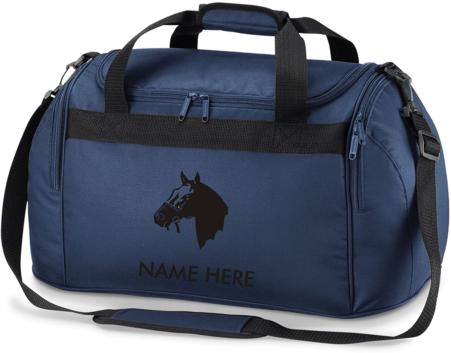 Gymkhana Equestrian Horse Riding Bag Holdall- Comes in Either Pink, Red, Navy Blue or Black.Free Personalisation (Navy Blue)