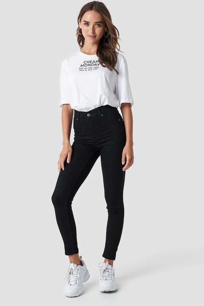 High Spray Black Jeans Cheap Monday, Black
