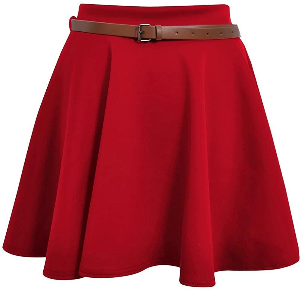 Hot Hanger Womens Mini Short Skater Skirt 8-14