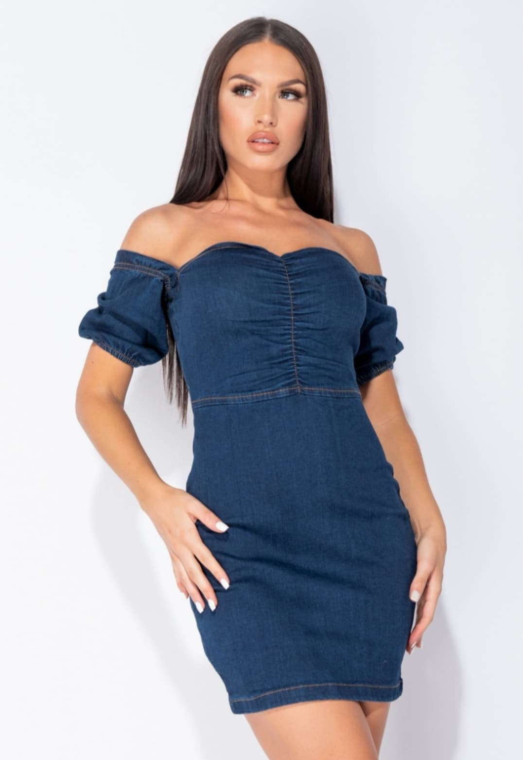 Indigo Denim Mini Dress