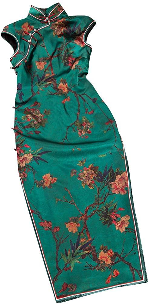 Interact China Premium Silk Top Tailor Artistry Cheongsam Qipao Gown Dress
