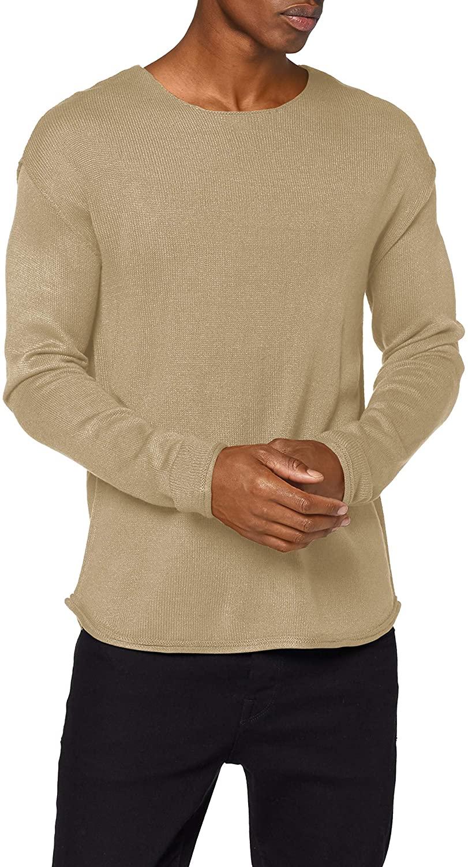 Jack & Jones Men's Jorraid Knit Scoop Neck Ka Sweater