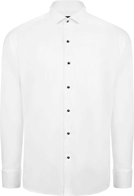 Jack Martin - Wing Collar Slim Fit Dress & Tuxedo Shirt with Dobble Cuff & Cufflinks
