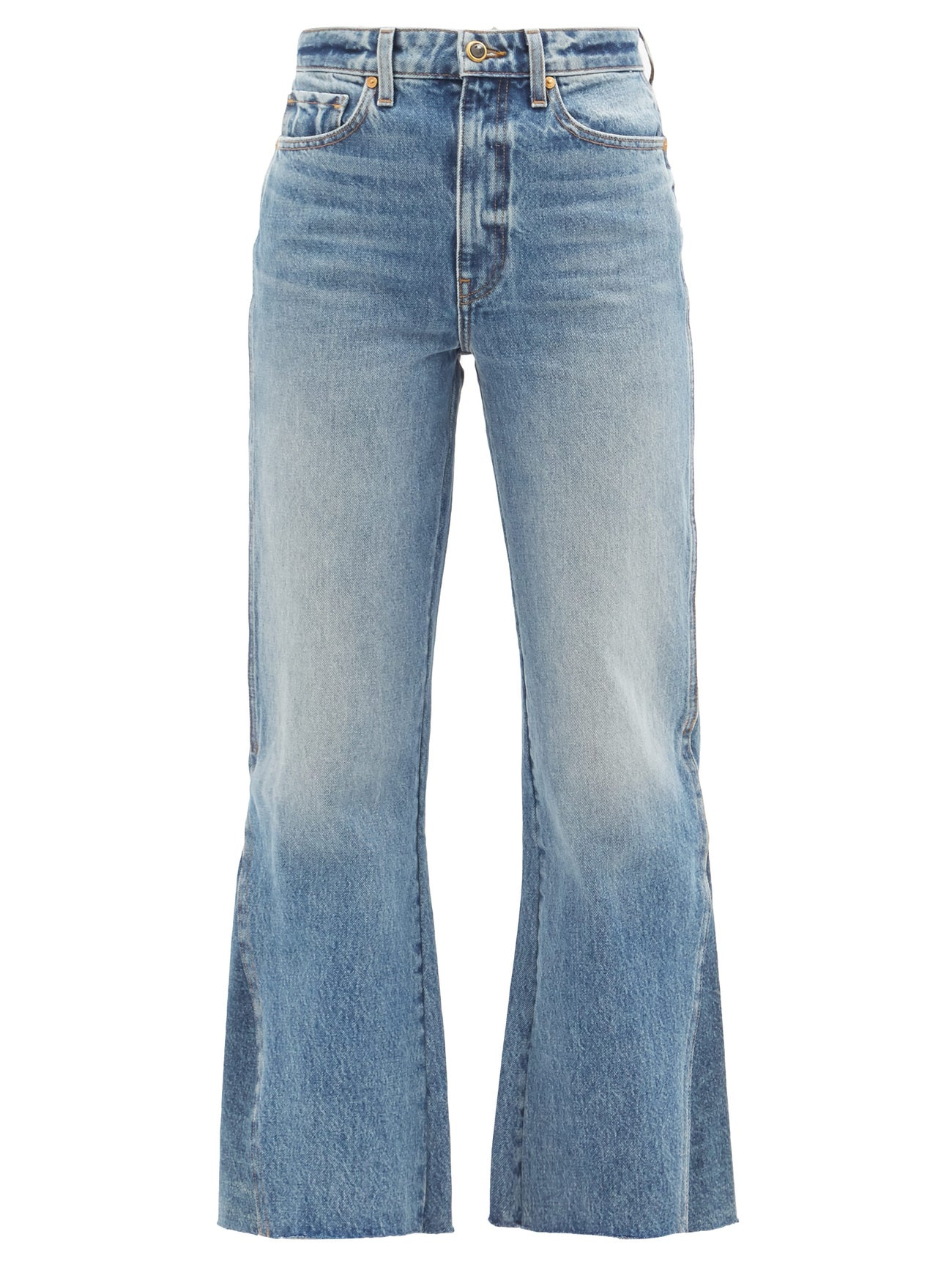 KHAITE Layla high-rise kick-flare jeans
