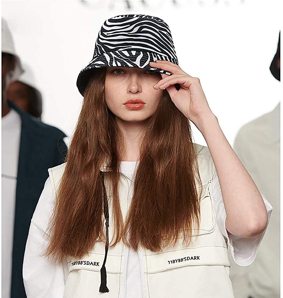 Lamdgbway Bucket Hat for Women Cute Cotton Packable Fisherman Cap for Travel Fishing