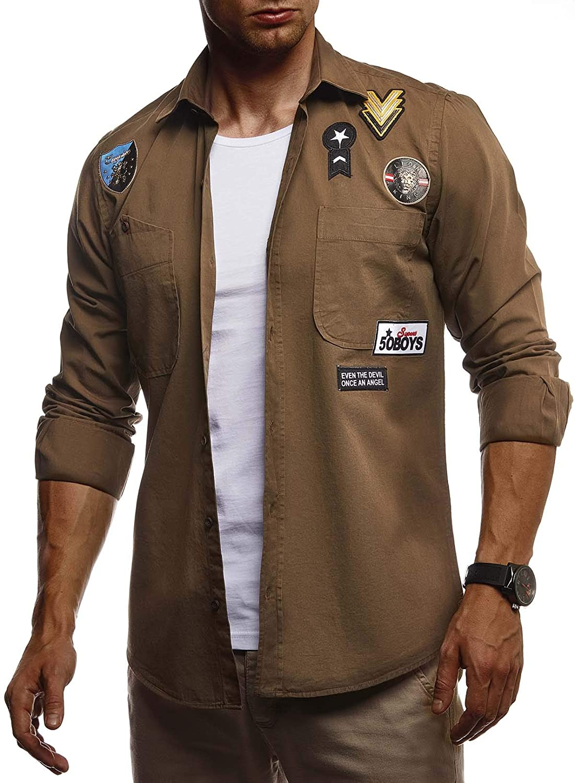 Leif Nelson Men Long Sleeve Shirt LN-3845