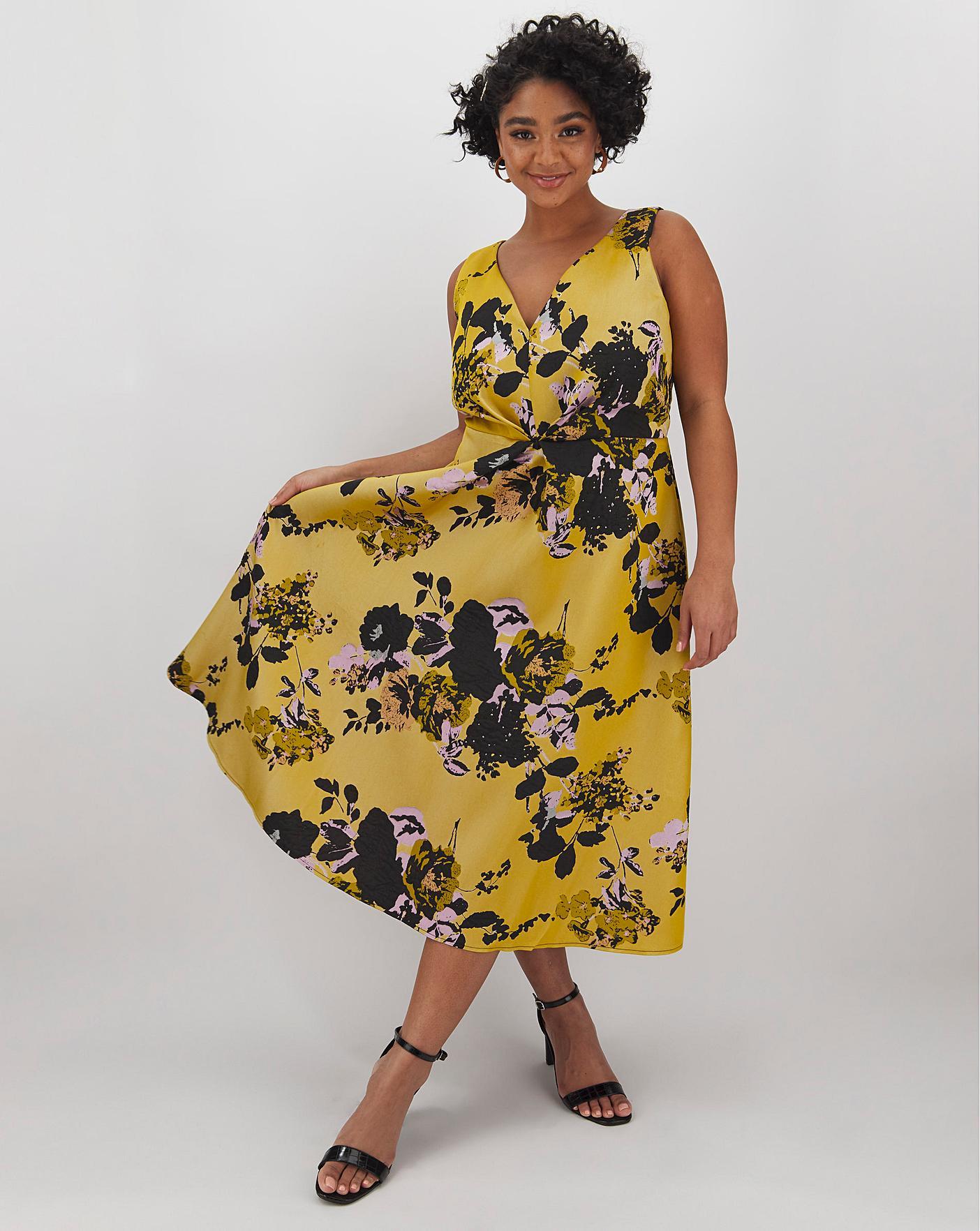 Little Mistress Floral Midi Dress