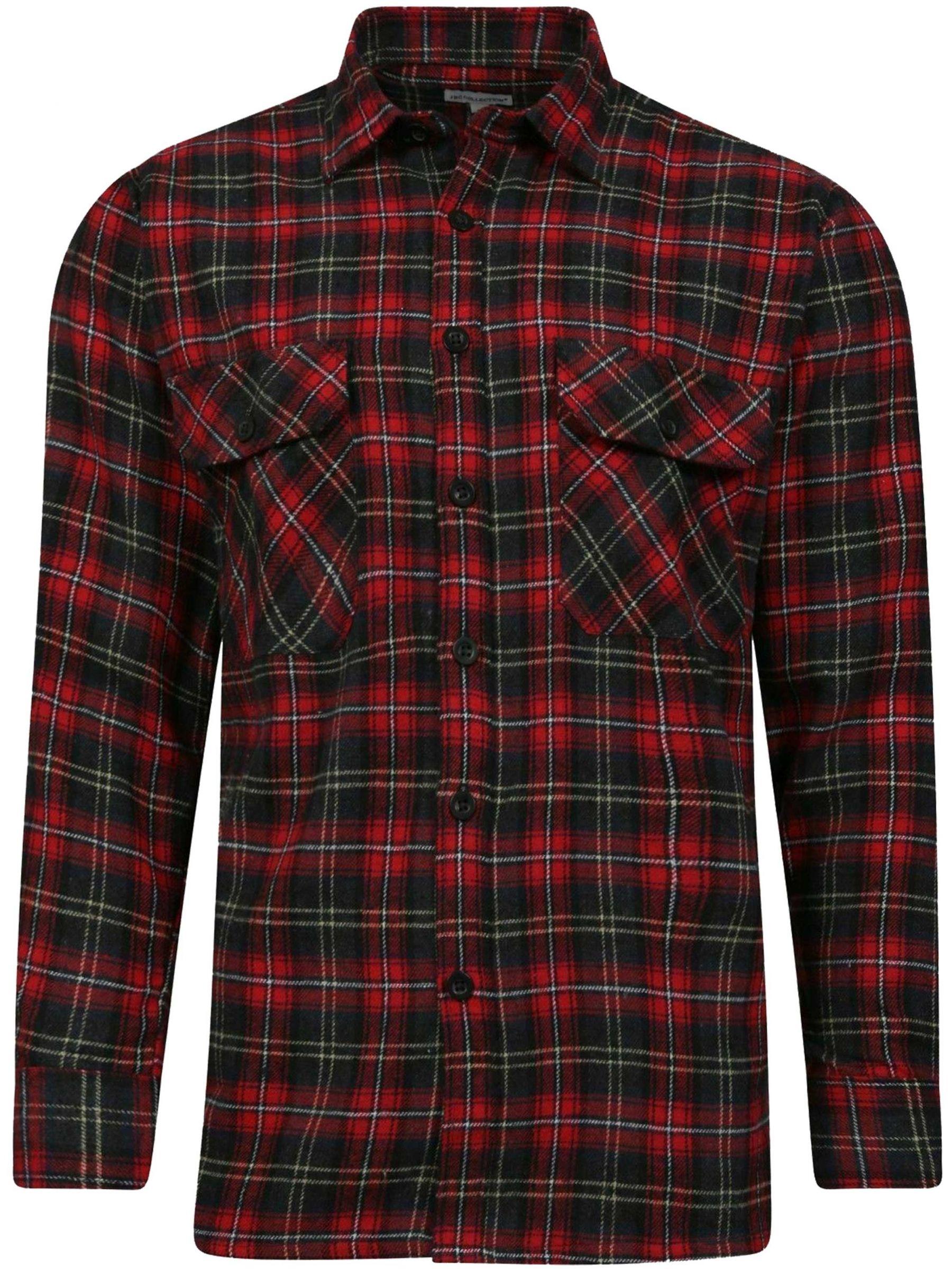 Long Sleeve Casual Check Shirts