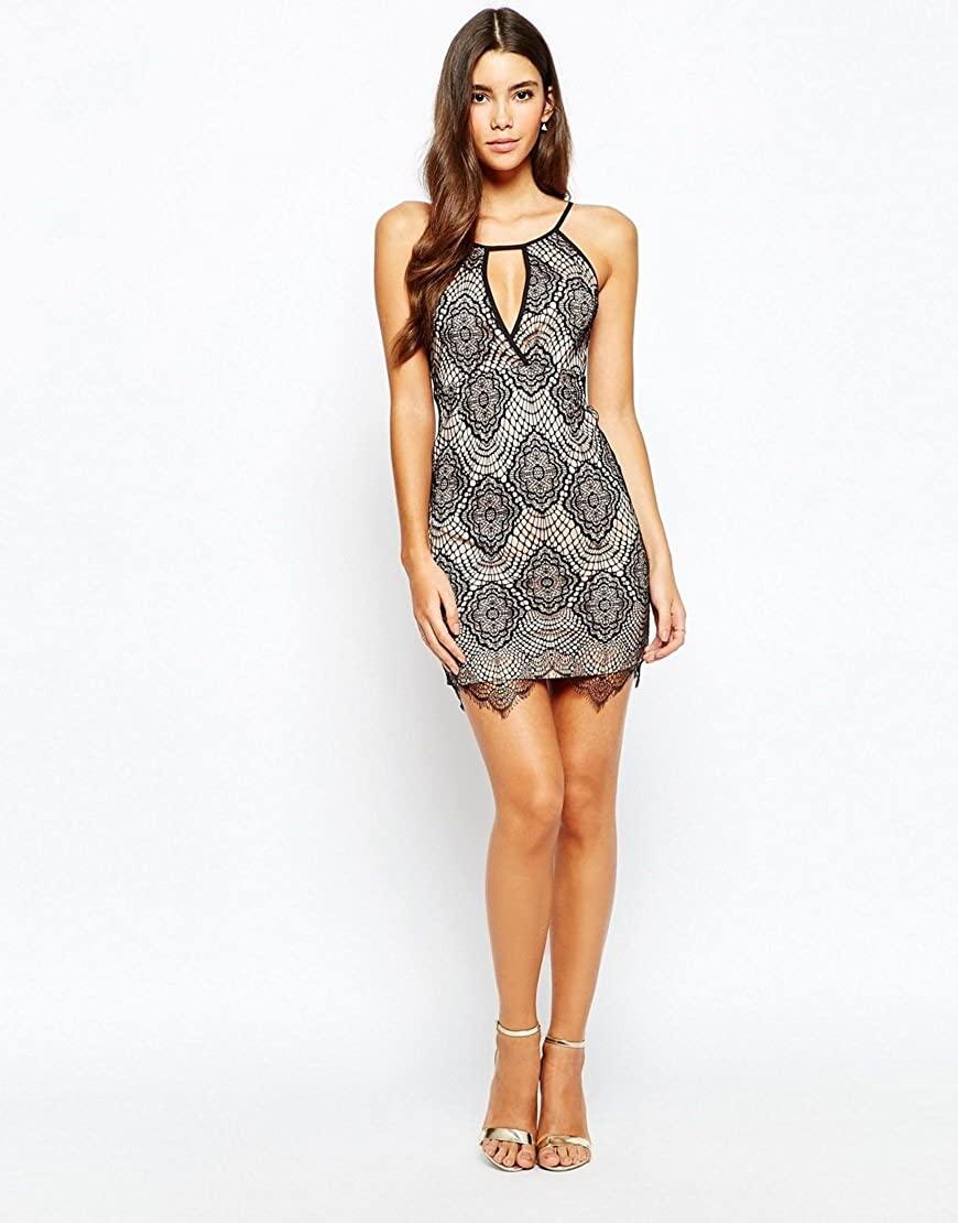 Love Triangle Black Sheer Lace Dress