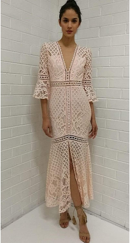 Love Triangle Blush Babette Maxi Lace Dress LT0222