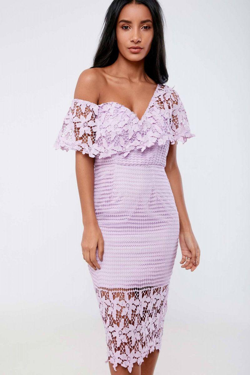 Love Triangle Botanical Wonder One Shoulder Dress
