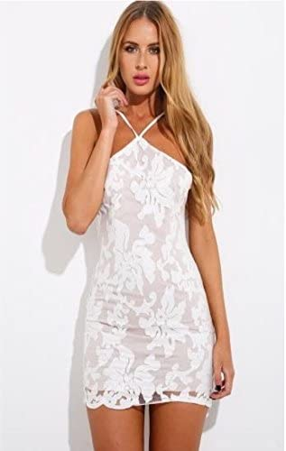 Love Triangle Sequin Embellished White Dress