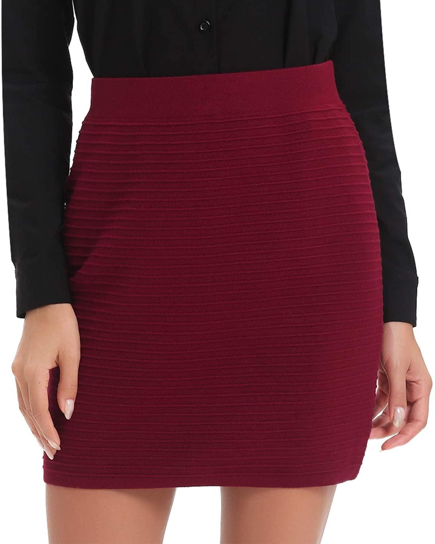 Luxspire Women's Bodycon Mini Skirts