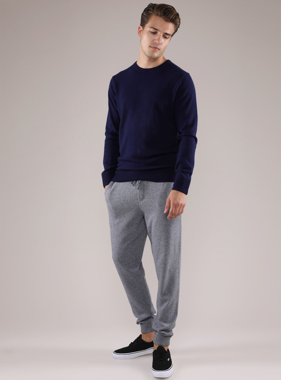 sweatpants with sweater