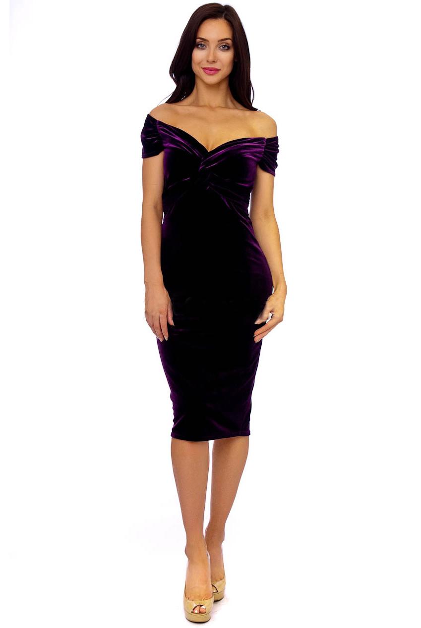 Marilyn Purple Vintage Midi Dress