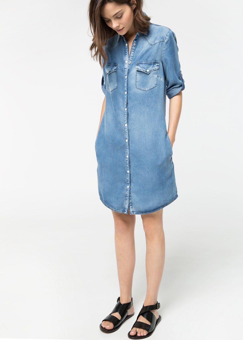 Medium soft denim dress
